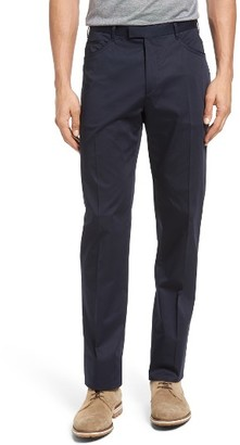 Men's Pal Zileri Sartorial Straight Fit Five Pocket Trousers $395 thestylecure.com