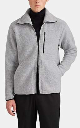 Theory Men's Wool-Blend Fleece Zip-Front Jacket - Gray