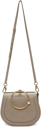 Chloé Grey Medium Nile Bracelet Bag $1,690 thestylecure.com