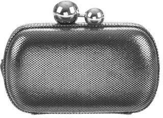 Diane von Furstenberg Sphere Metallic Tweed Leather Clutch
