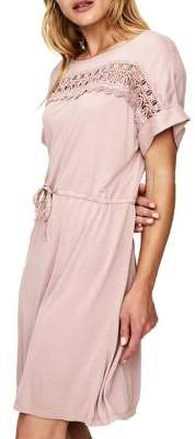 Vero Moda Elin Eyelet-Trim Short Sleeve Dress