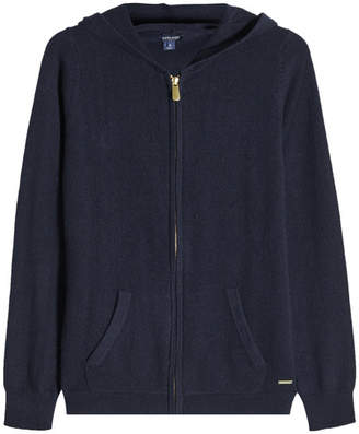 Woolrich Zipped Cashmere Hoodie