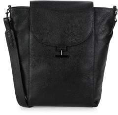 Halston Large Leather Shoulder Bag