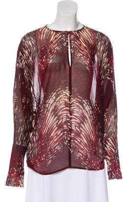 Tamara Mellon Printed Silk Blouse
