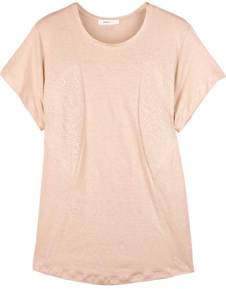 Vanessa Bruno Linen-blend T-shirt
