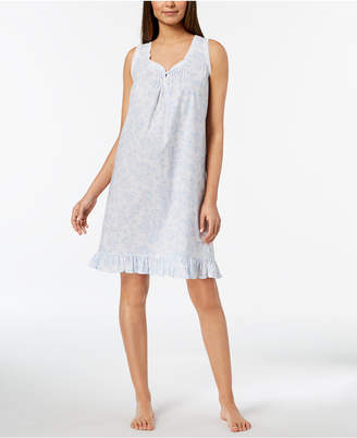Miss Elaine Lace-Trim Ruffled-Hem Nightgown