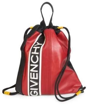 Givenchy Logo-Print Drawstring Backpack