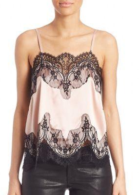 Alice + Olivia Sondra Lace Trim Camisole $288 thestylecure.com