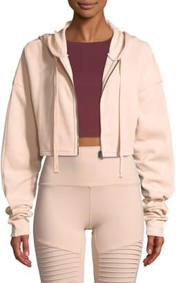 Alo Yoga Extreme Crop Hooded Zip-Front Jacket