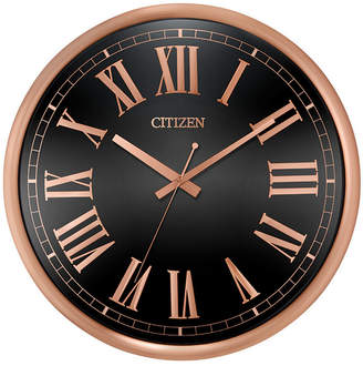 Citizen Gallery Black & Rose Gold-Tone Wall Clock