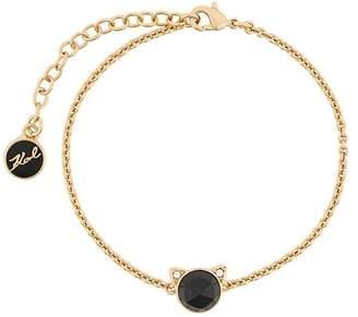 Karl Lagerfeld rose cut Choupette bracelet