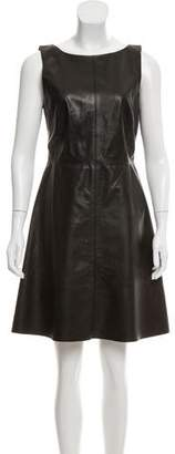 Ali Ro Leather A-Line Dress