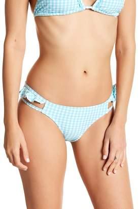 Jessica Simpson Ruffle Gingham Print Bikini Bottoms