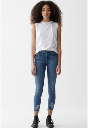 Singer22 SOPHIE CROP JEAN WITH CHEWED HEM AND WAISTBAND