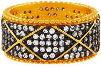 Freida Rothman Cubic Zirconia Deco Wide Eternity Ring, Size 7