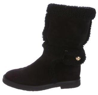 Louis Vuitton Suede Mid-Calf Boots