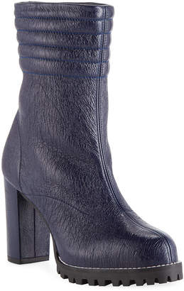 Isobel Crinkled Leather Boots