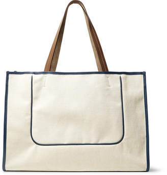 Off-White Connolly - Leather-Trimmed Canvas Tote Bag - Men