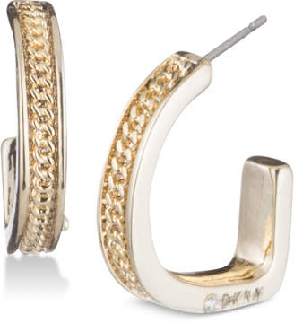 DKNY Chain Textured Hoop Earrings, Created for Macy's