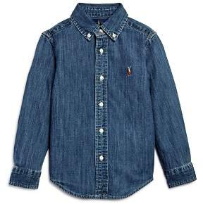 Ralph Lauren Boys' Denim Button-Down Shirt - Little Kid