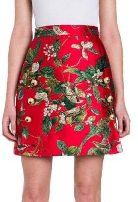 Dolce & Gabbana Jacquard A-Line Mini Skirt