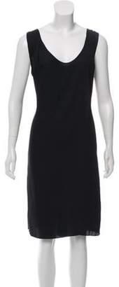 Marni Sleeveless Knee-Length Dress Black Sleeveless Knee-Length Dress