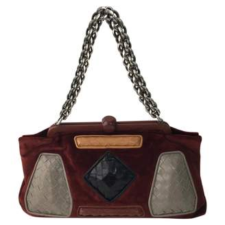 Bottega Veneta Brown Velvet Handbag