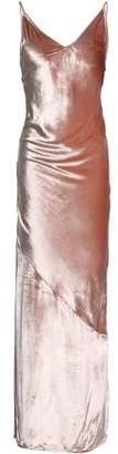Fleur Du Mal Open-Back Velvet Maxi Slip Dress