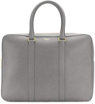 Thom Browne Seamed Panel Pebble Grain Leather Business Day Bag