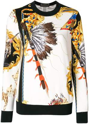 Versace Native American baroque sweatshirt