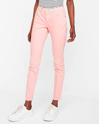 Express Mid Rise Pink Stretch Jean Leggings