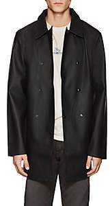 Stutterheim Raincoats RAINCOATS MEN'S SKEPPSBRON DOUBLE-BREASTED RAINCOAT-BLACK SIZE L