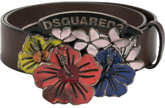 DSQUARED2 floral buckle belt