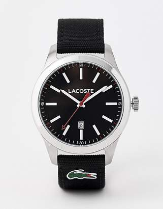 Lacoste 2010778 men's Auckland black nylon strap watch