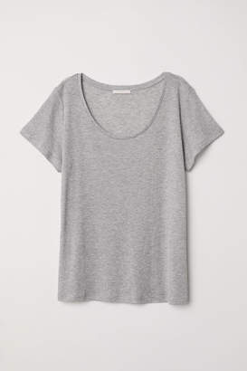 H&M Lyocell T-shirt - Gray
