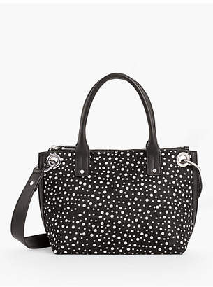 Talbots Leather Haircalf-Dot Tote Bag