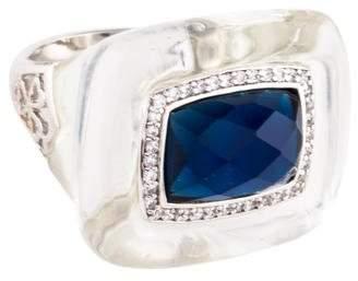 Angélique de Paris Resin, Glass & Cubic Zirconia Cocktail Ring