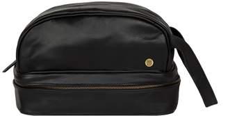 0e51bc2642 Raleigh MAHI Leather - Leather Toiletry Bag Dopp Kit In Ebony Black