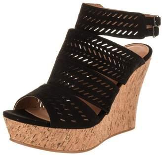 Not Rated Womens Ellana Open Toe Cork Platform Sandals 10 Medium (B,M)