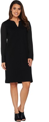 Kelly By Clinton Kelly Kelly by Clinton Kelly Georgette Sleeve V-Neck Ponte Dress