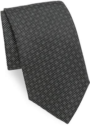 Saks Fifth Avenue Made in Italy Men's Neat Boxes Silk Tie