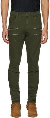 Faith Connexion Green Zipper Trousers $750 thestylecure.com