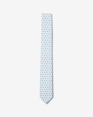 Express Skinny Flamingo Cotton Tie