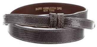 Kieselstein-Cord Lizard Belt Strap Grey Lizard Belt Strap