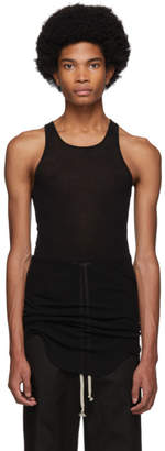 Rick Owens Black Basic Rib Tank Top