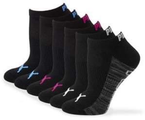 Puma Six-Pack Ribbed Logo No-Show Socks