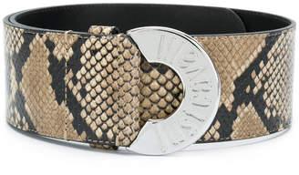 Just Cavalli snake effect leather belt