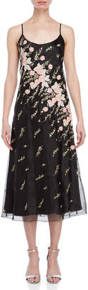 Blugirl Floral Embroidered Midi Dress