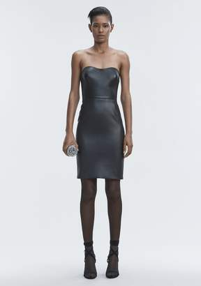 Alexander Wang LEATHER BUSTIER DRESS