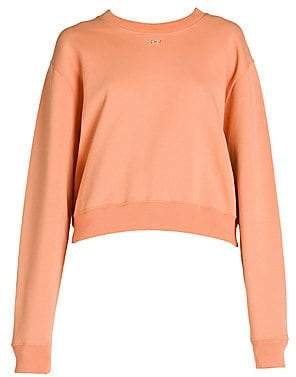Off-White Women's Shifted Carryover Embellished Cropped Crewneck Sweatshirt